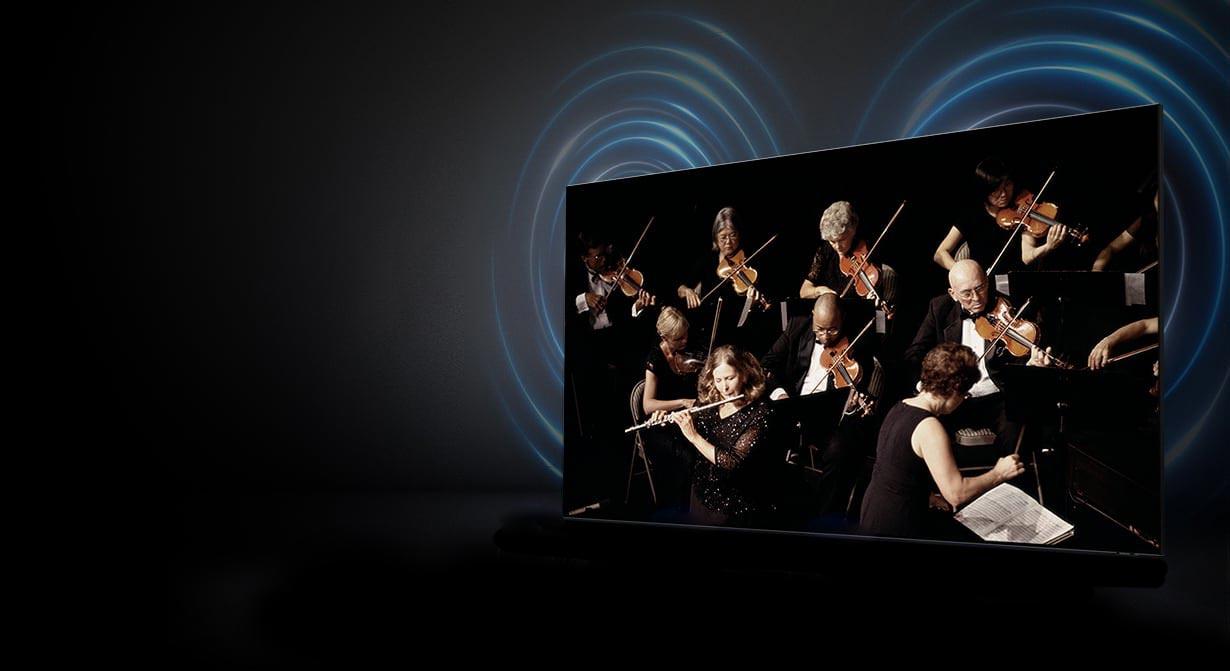 تلویزیون سامسونگ 55TU8000 دارای سیستم صوتی 2 کاناله است و در مجموع از توان خروجی 20 وات برخوردار است