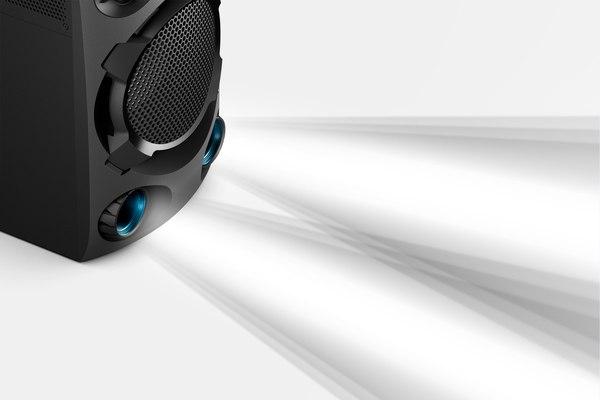 صدای بیس دار سیستم صوتی MHC-V02 سونی