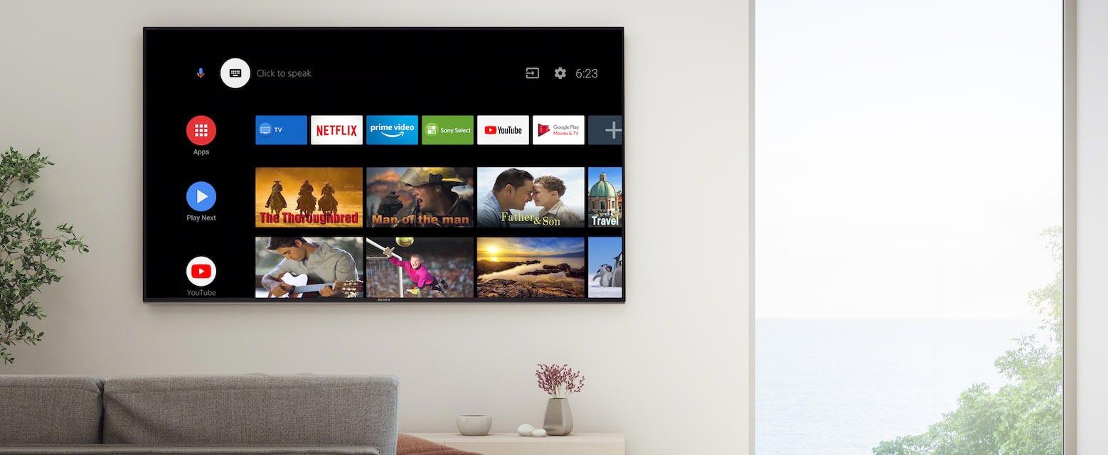 تلویزیون هوشمند سونی X8500H با سیستم عامل اندروید 9